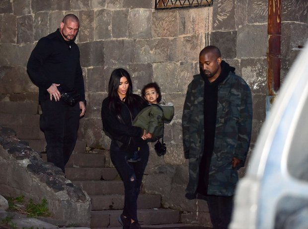 Kim Kardashian, Kanye West and North