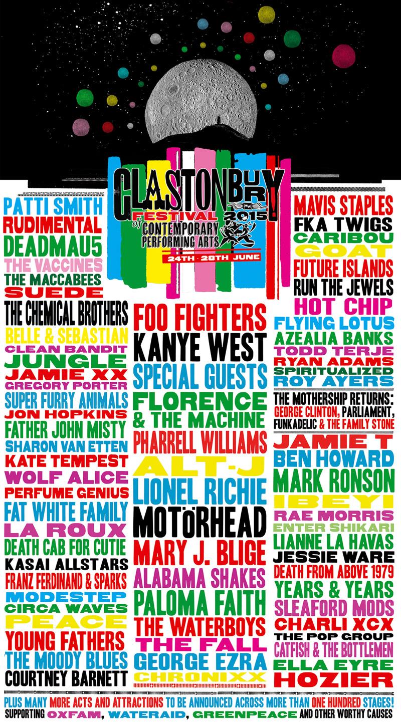 Glastonbury 2015 line up
