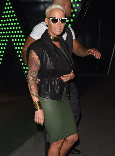 Amber Rose wearing sunglasses