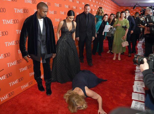 Kanye West, Kim Kardashian West and Amy Schumer pr