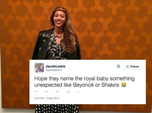 Beyonce royal baby tweets