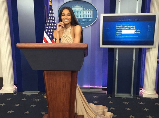 Ciara at the White House