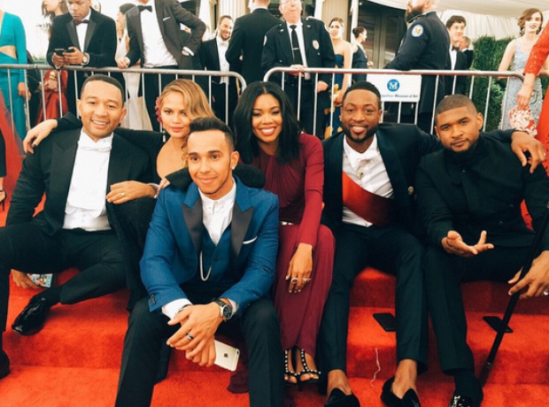 Chrissy Teigen, John Legend, Lewis Hamilton and Us