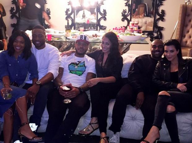 Kim Kardashian and Kanye West Boxing Match 2015