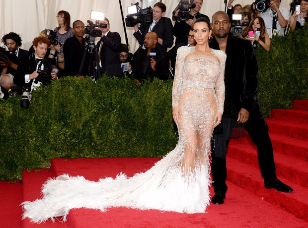 Kim Kardashian and Kanye West MET Gala 2015