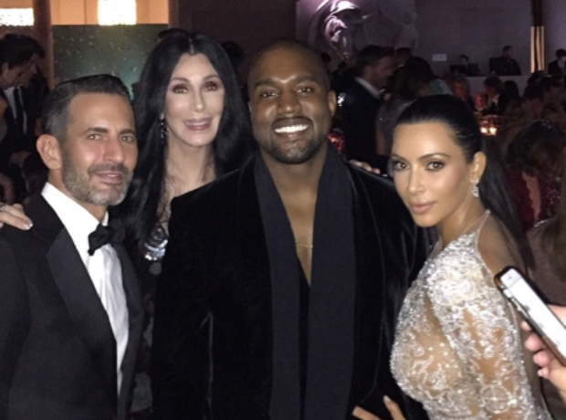 Kim Kardashian, Kanye West, Cher and Marc Jacobs a