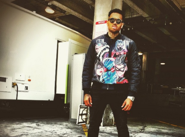 Chris Brown bomber jacket