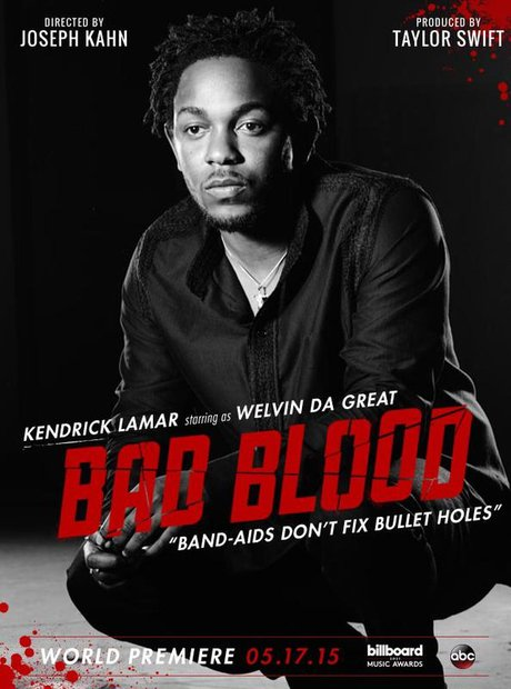Kendrick Lamar in Taylor Swift's Bad Blood video