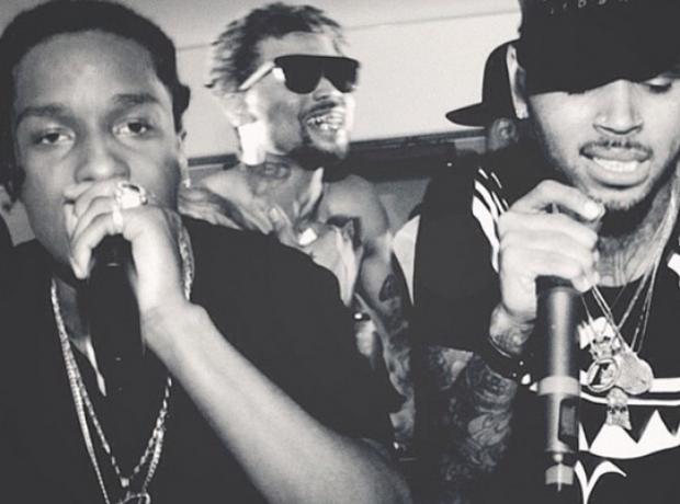 Chris Brown ASAP Rocky Cannes