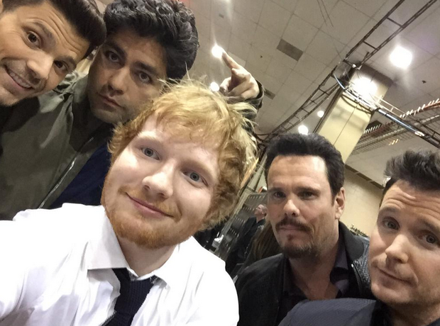 Ed Sheeran Entourage Billboard Music Awards 2015