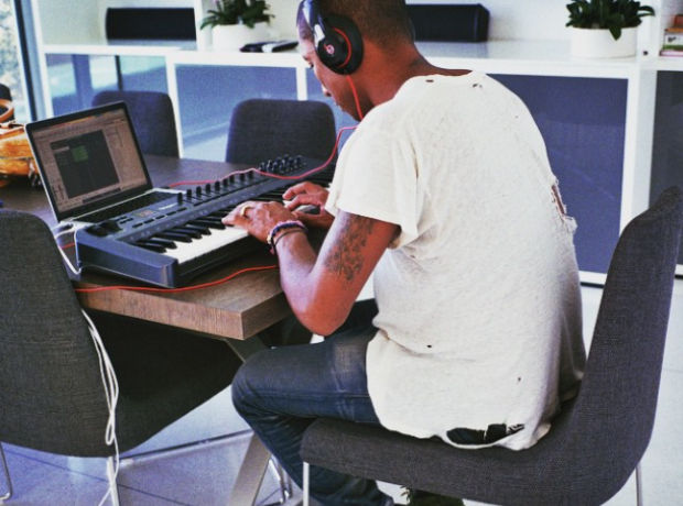 Pharrell working