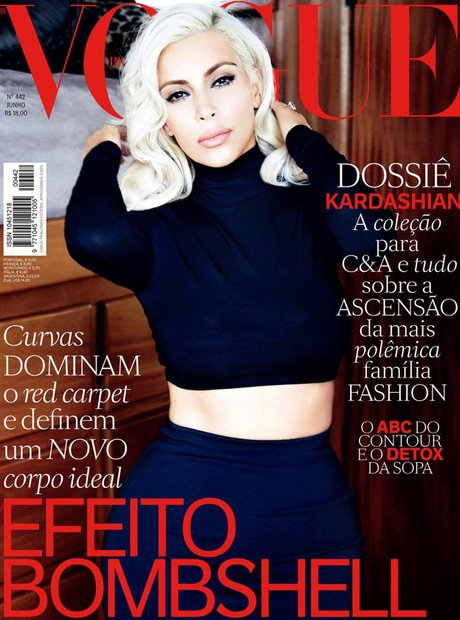 Kim Kardashian VOGUE Brazil 2015