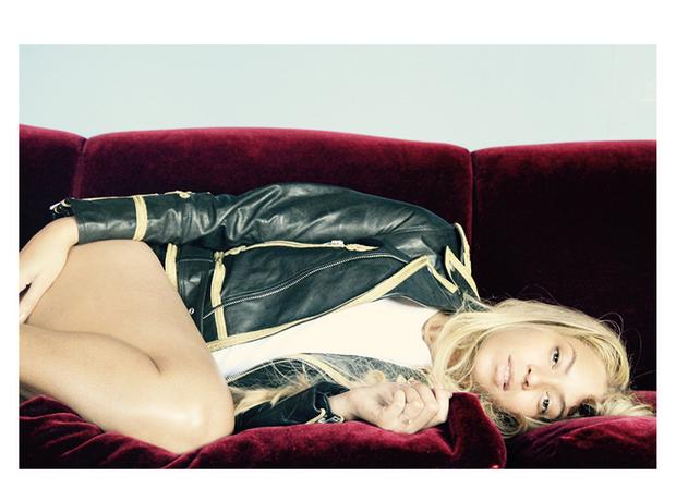 Beyonce lying down