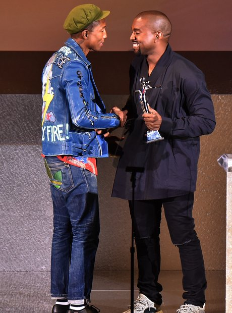 Kanye West and Pharrell 2015 CFDA Fashion Awards