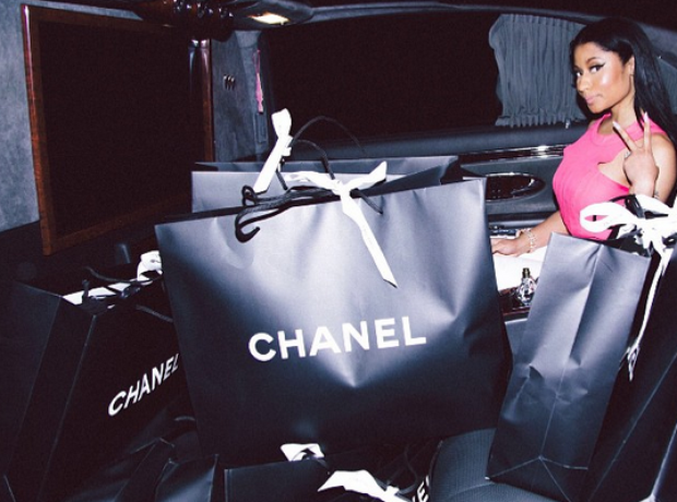 Nicki Minaj Chanel shopping bags