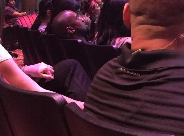 Kanye West asleep