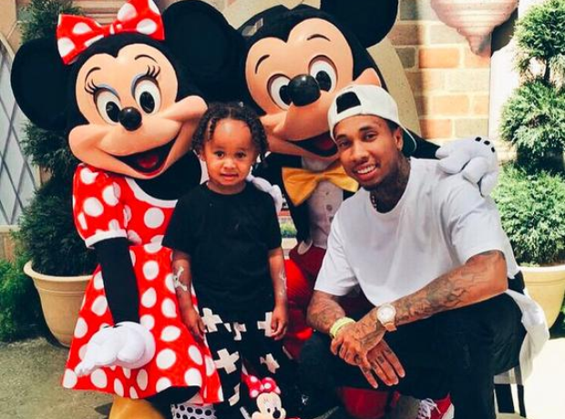 Tyga and son King Cairo