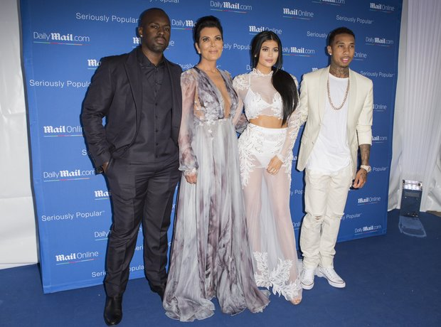 Kylie Jenner, Kris Jenner and Tyga