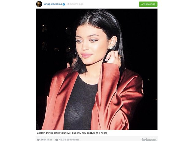 Kylie Jenner Tyga Instagram post