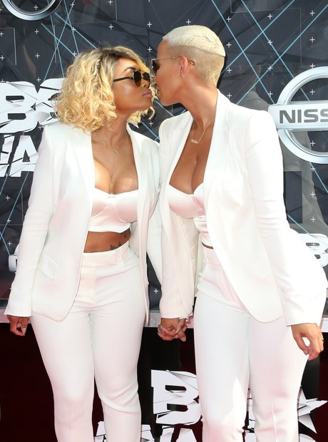 Amber Rose and Blacc Chyna BET Awards Red Carpet 2