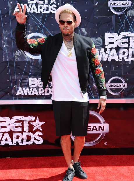 Chris Brown BET Awards 2015 Red Carpet