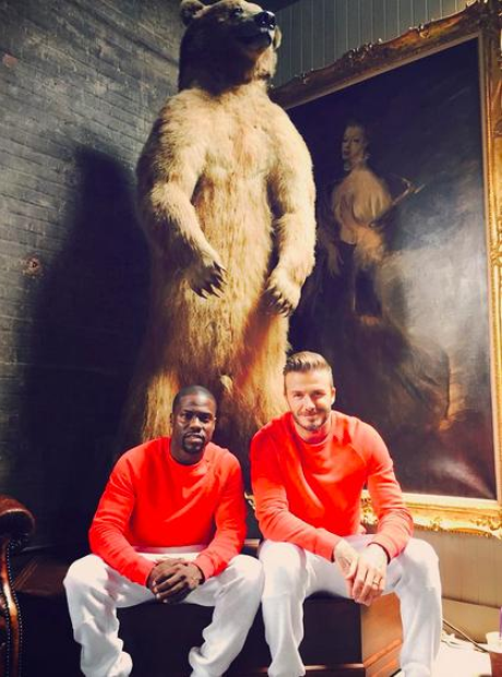 David Beckham and Kevin Hart