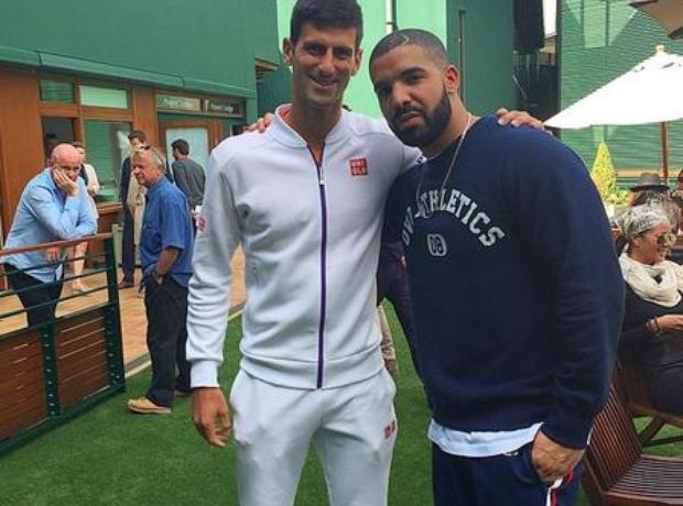 Drake and Novak Djokovic Wimbledon