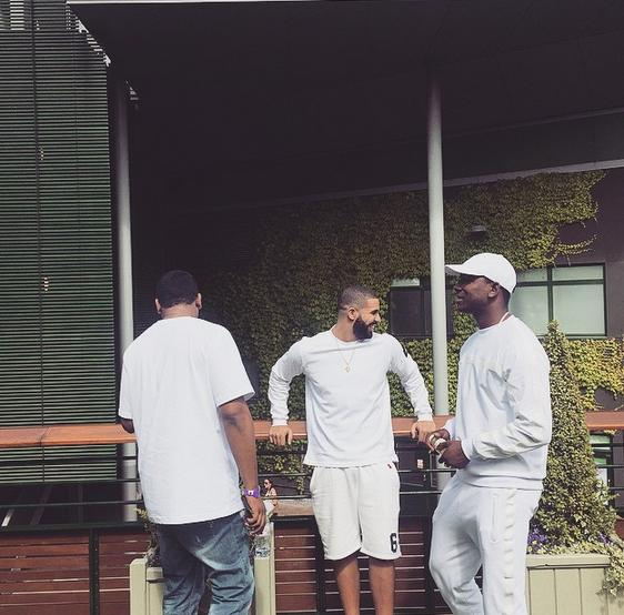 Drake and Skepta at Wimbledon