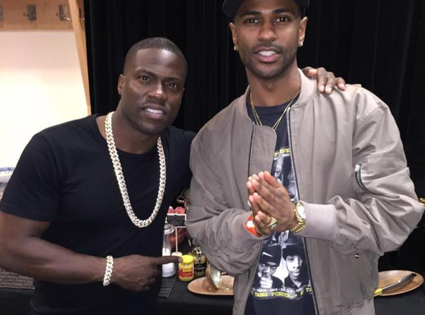 Big Sean next to Kevin Hart