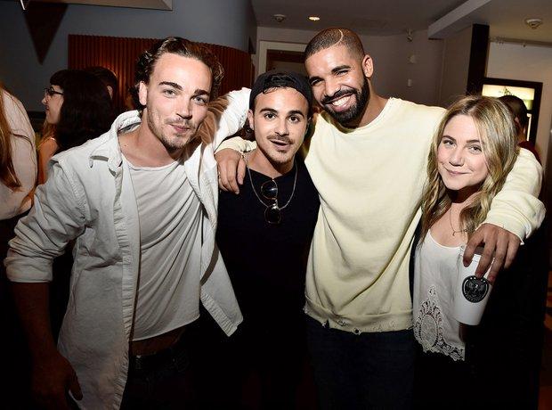 Drake and 'Degrassi' Stars