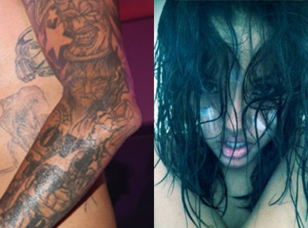 Chris Brown karrueche tran tattoo