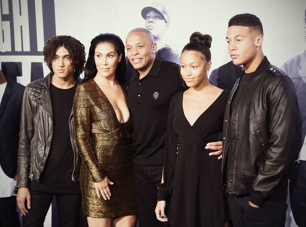 Dr. Dre, his wife Nicole Young and family