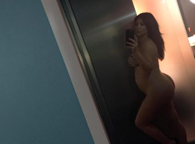 Kim Kardashian naked pregnant photo Instagram