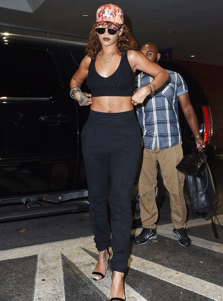 Rihanna All Black Outfit