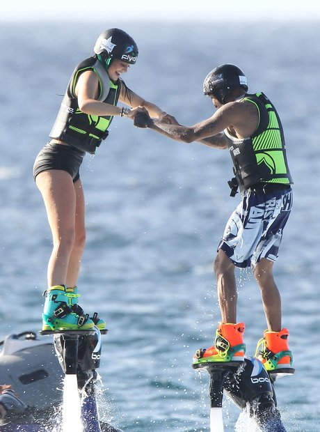 Kylie Jenner and Tyga jetpack