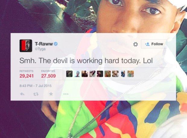 Tyga address transgender rumours