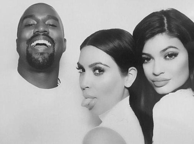 Kim Kardashian, Kanye West and Kylie Jenner