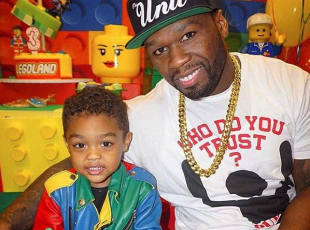 50 Cent and son at birthday party