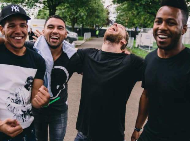 Calvin Harris The Disciples laughing