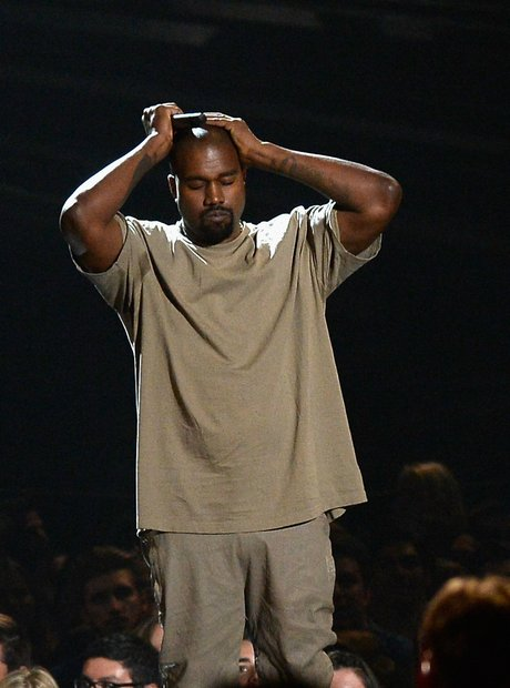 Kanye West receives the Vanguard Video Award at th