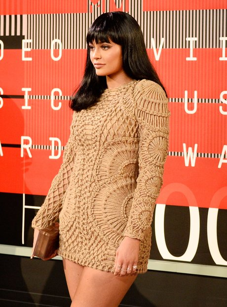 Kylie Jenner arrives at the 2015 MTV Video Music A