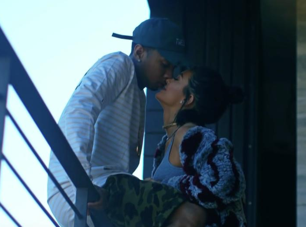 Tyga and Kylie Jenner kissing
