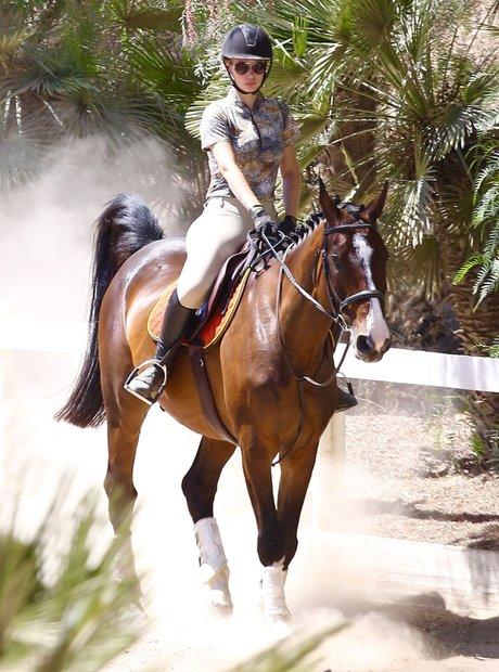 Iggy Azalea horse riding