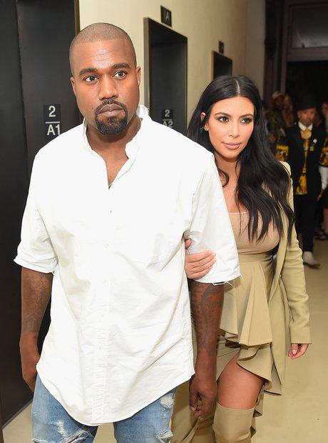 Kim and Kanye walking