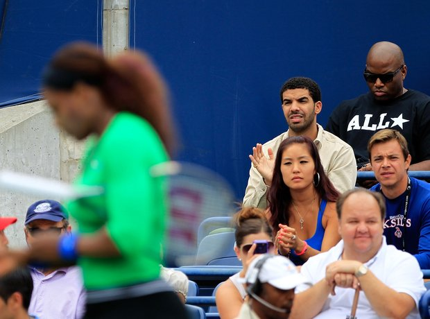 Drake at Serena Williams Tennis Match