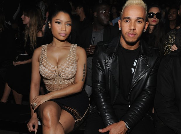 Nicki Minaj and Lewis Hamilton New York Fashion We