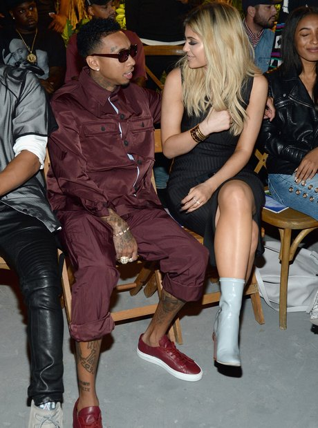 Tyga and Kylie Jenner at New York Fashion Week