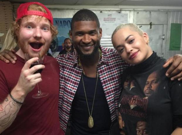 Usher Ed Sheeran Rita Ora