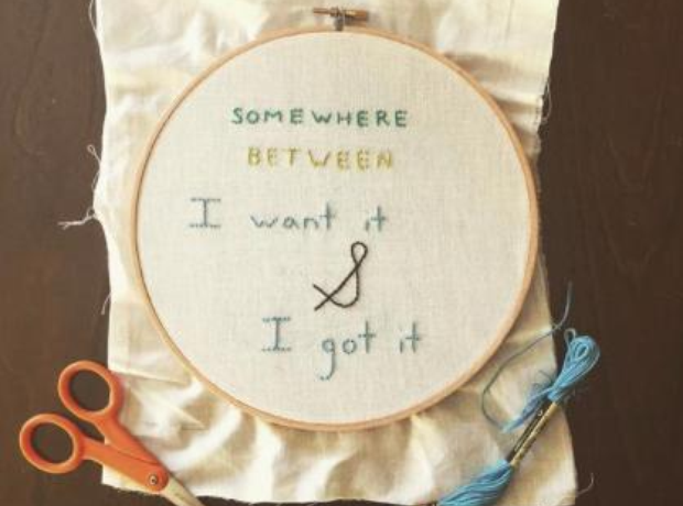 Drake Lyrics Embroidery