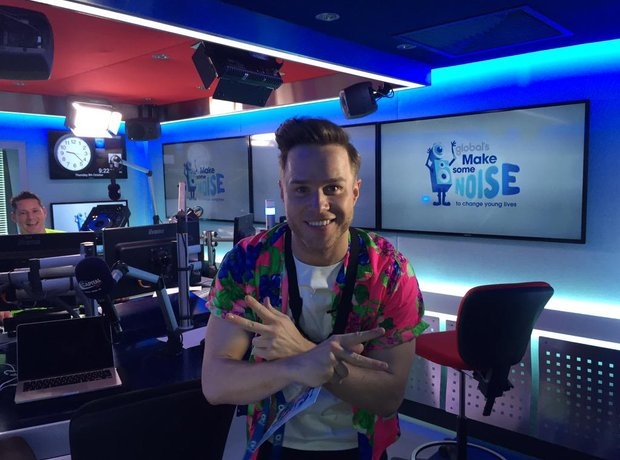 Olly Murs in Capital XTRA studio